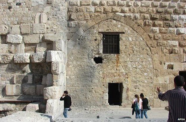Damascus citadel with a hole in the wall