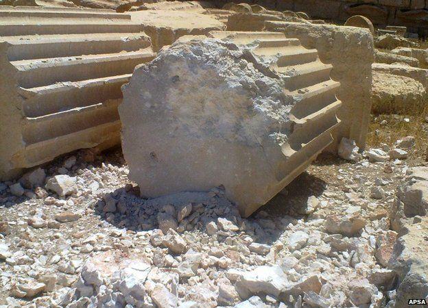 Fallen column in Palmyra