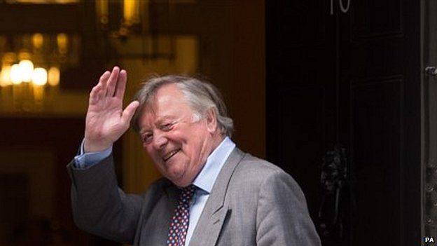 Ken Clarke entering No 10 Downing Street