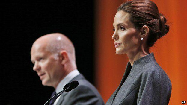 William Hague with Angelina Jolie