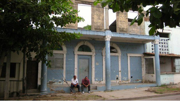 Remnants of the city's biggest brothel still stand in Guantanamo