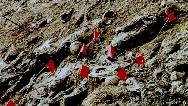 Site of mass grave at Srebrenica 11 July 1996
