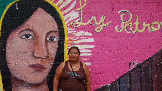 Guadalupe Gonzalez in La Patrona in June 2014