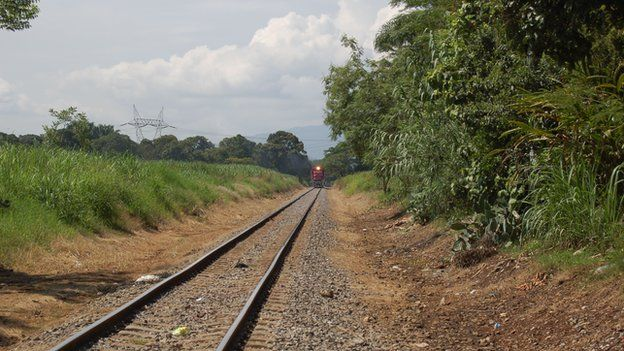Train approaching in La Patrona in June 2014