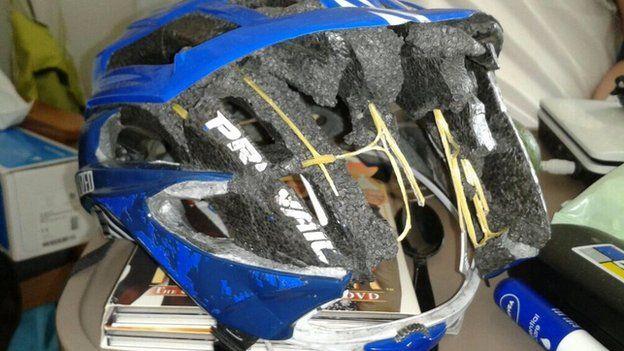 Bart's cycle helmet