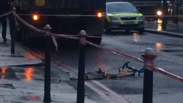 Paramedic photo of aftermath of cycling accident in London