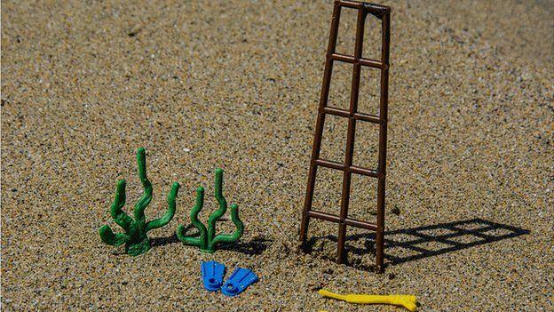 Lego sea-themed items