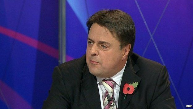 Nick Griffin appearing on BBC's Question Time in 2009