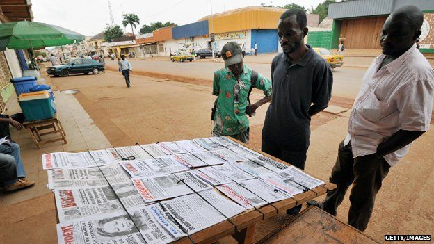 Newsstand in Central African Republic