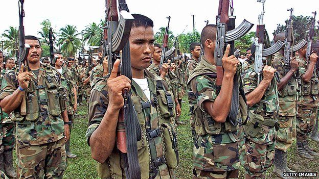 Fighters of the Colombian United Self-Defence appeared in Colombia on 25 November 2004
