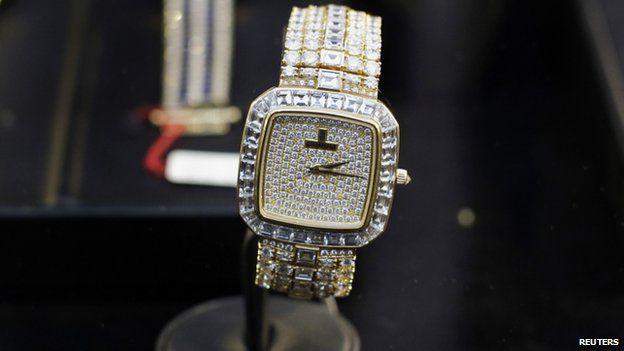 Montesinos' gold/diamond watch