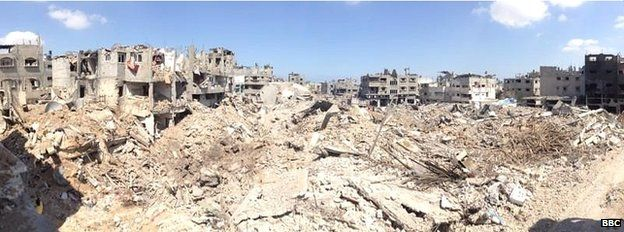 View over part of Shejaiya (26 July 2014)