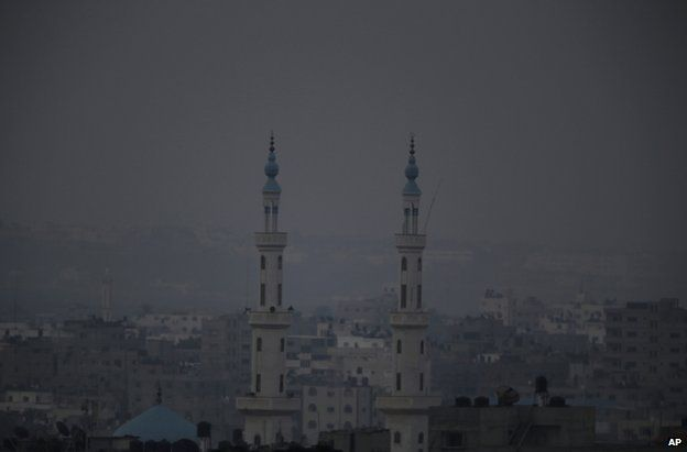 A mosque in Gaza, 28 July