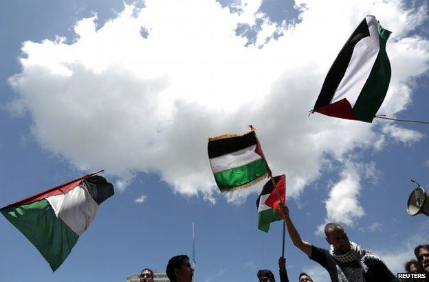 Pro-Palestinian protesters in Guatemala City, 27 July