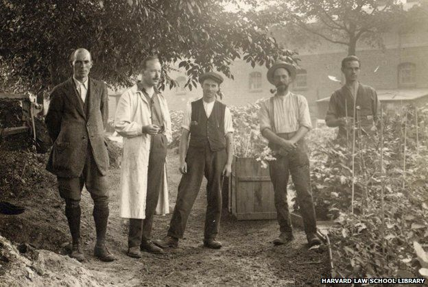 A detail from the Ruhleben Horticultural Society, July 1917 olvwork423203, Historical & Special Collections, Harvard Law School Library