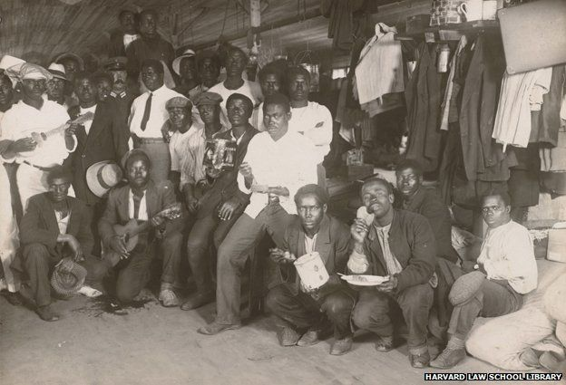Black internees in their barrack, Ruhleben Internment Camp olvwork427080, Historical & Special Collections, Harvard Law School Library