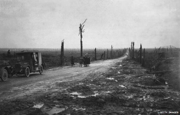Photograph of Menin Road