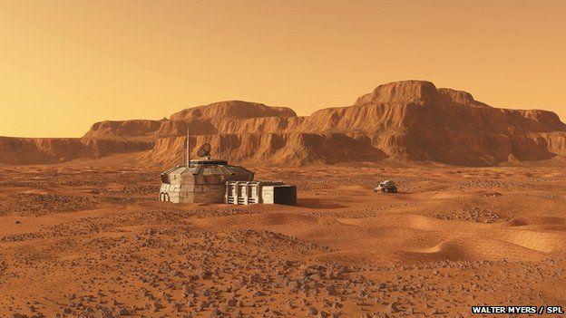Mars base artwork