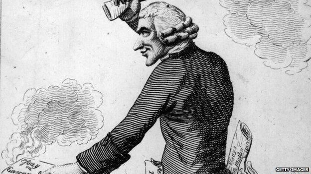 English chemist Joseph Priestley (1733 - 1804)