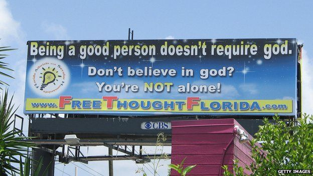 """Florida billboard - """"Being a good person doesn't require god"""""""