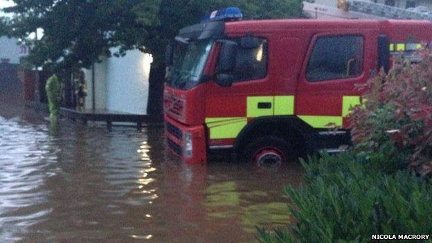 The Fire and Rescue Service said it received 33 calls in the six hours until midnight