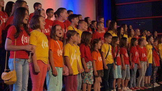 Superar choir singing in Sarajevo