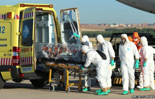 Ebola victim in Madrid