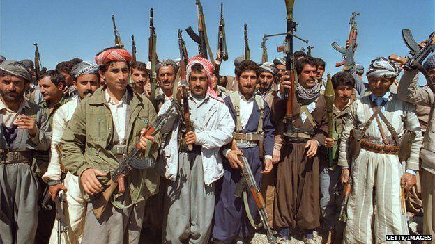 1991 Kurdish Peshmerga soldiers