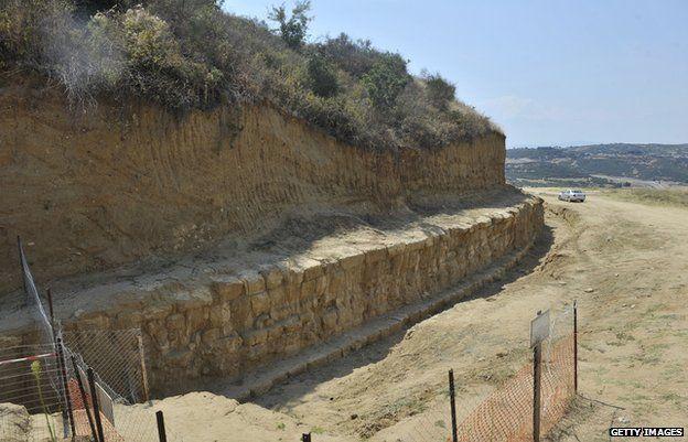 Burial site at Amphipolis 600km north of Athens