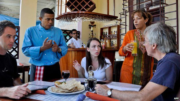 A tourist restaurant in Havana