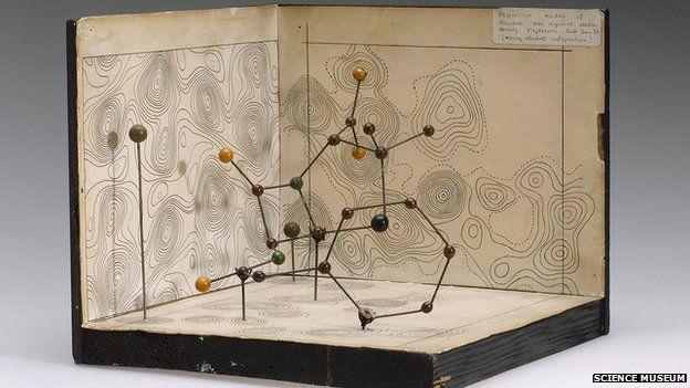 Dorothy Hodgkin's model of the Penicillin molecule