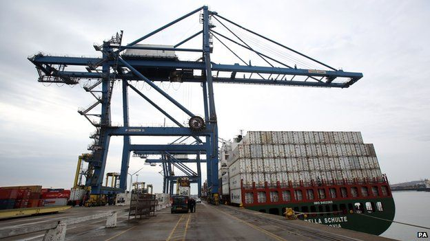 Tilbury Docks in Essex - library picture