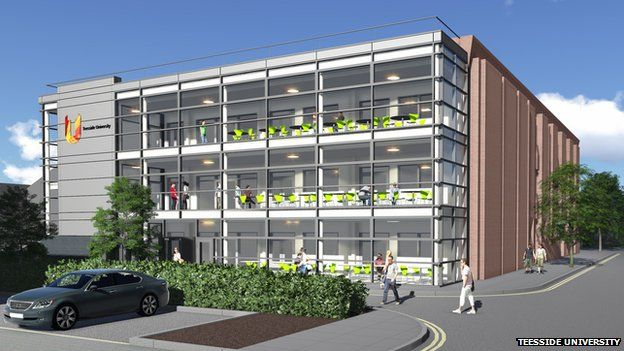 Artist's impression of the extended Orion building