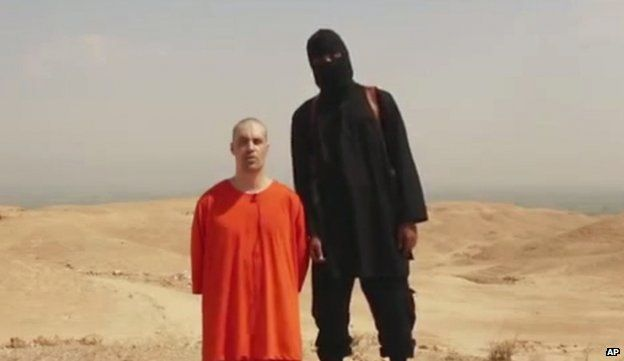 Photo from video purporting to show the murder of James Foley