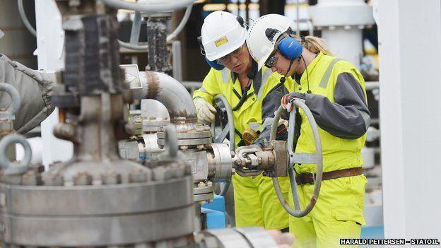 Norwegian oil workers