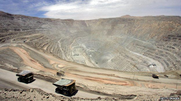 File photo of the Chuquicamata copper mine from 25 October, 2005