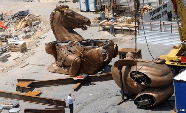 Horse under construction