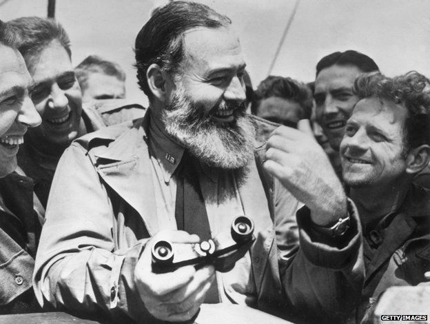 As a war correspondent, Ernest Hemingway travelled with US soldiers to Normandy for the D-Day landings in 1944