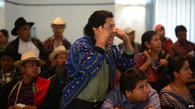 Members of San Juan La Laguna's indigenous community