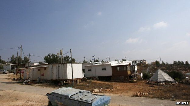 Prefabricated homes are seen in a Jewish settlement known as Gvaot. Photo: 31 August 2014