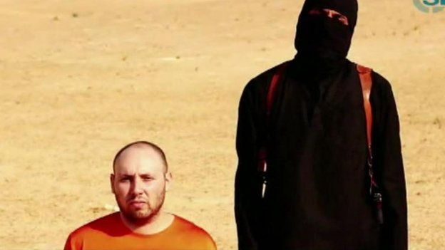 Still from video of purported beheading