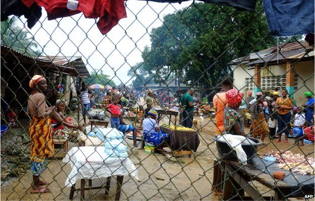 Dolo Town near Monrovia Liberia which is quarantined because of Ebola 2 September 2014