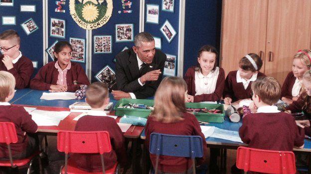 Barack Obama at school