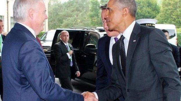 Carwyn ac Obama
