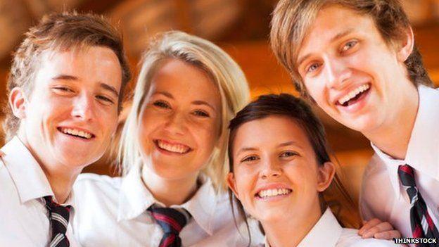 Pupils at a school