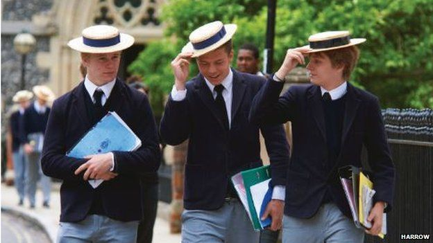 Three Harrow schoolboys