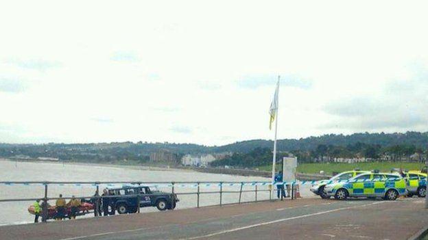 Police operation at Rhos-on-Sea
