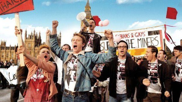 Protest march in Pride