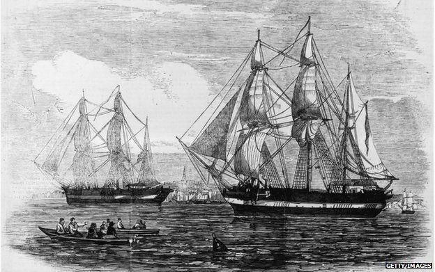 The ships HMS Erebus and HMS Terror