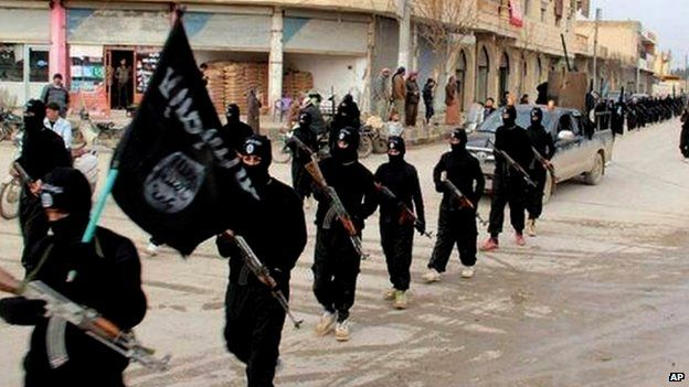 Islamic State fighters in Syria. File photo